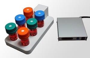 ABLE Biott Magnetic stir platform with 6 flasks